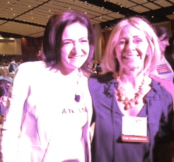 Leaning in with Sheryl Sandberg at BlogHer13.
