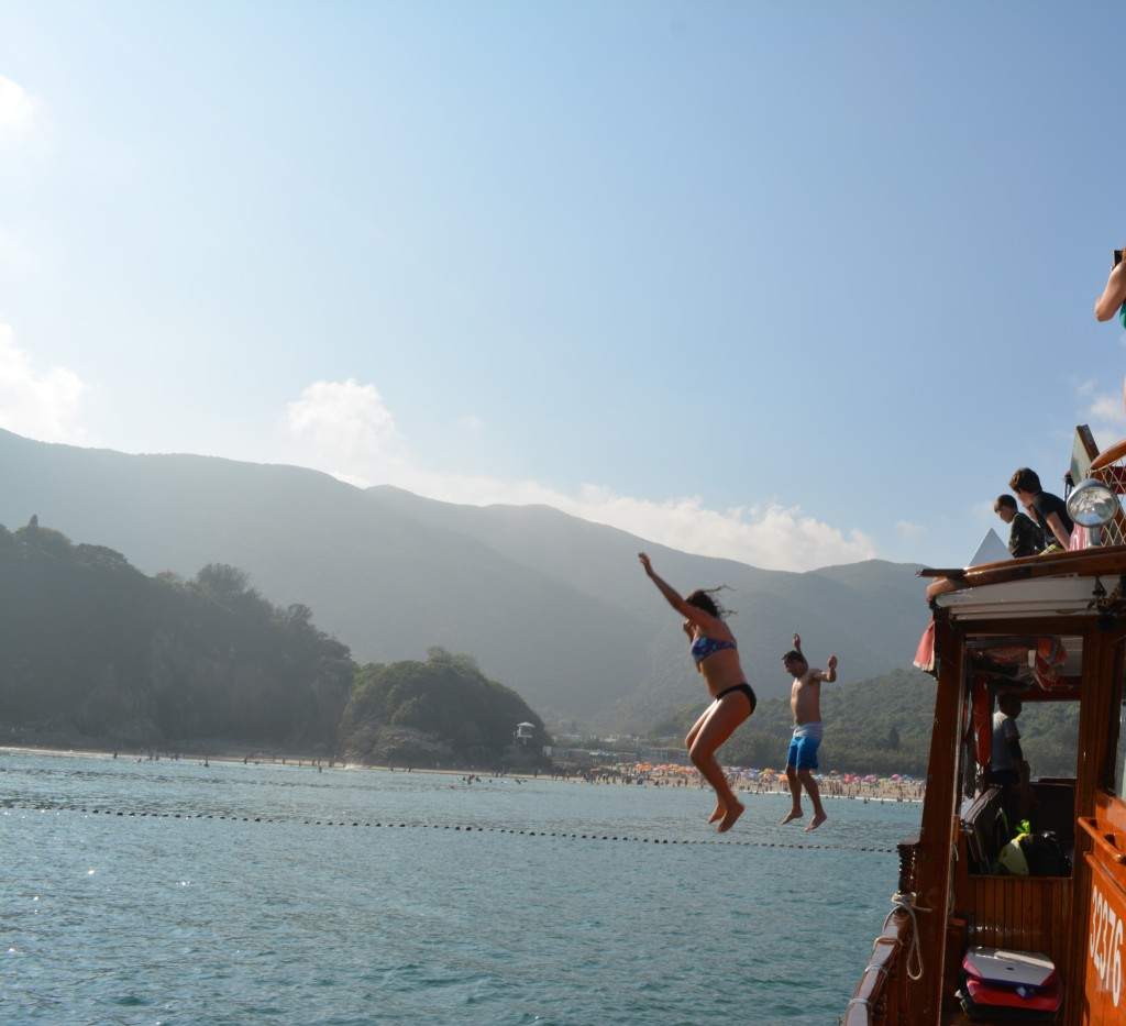 This is how we celebrated Easter, jumping into the South China Sea.