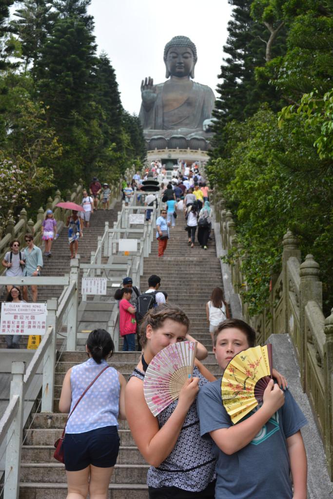 The Big Buddha on Lantau Island.