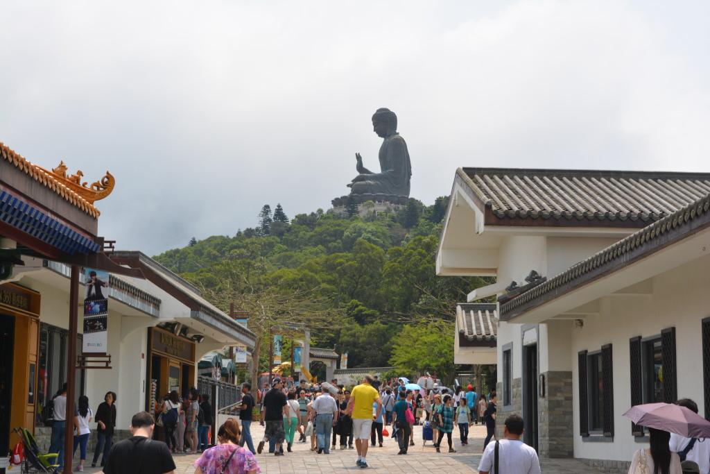 Approaching the Big Buddha.