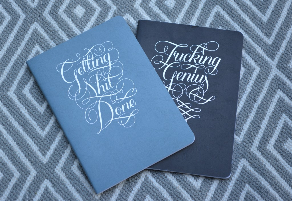 Notebooks for inspiration.