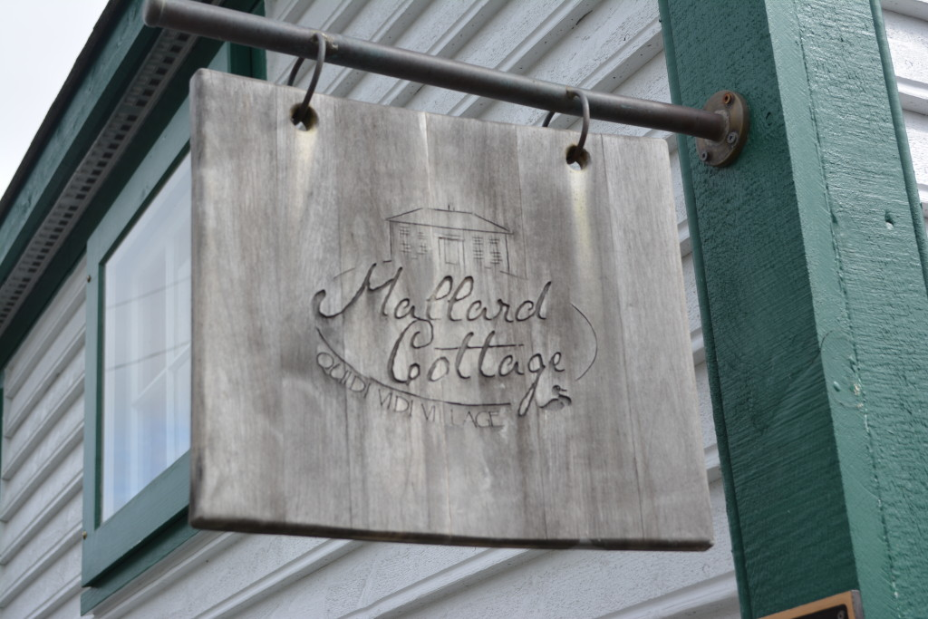 Our brunch here at Mallard Cottage included breakfast pizza and a smoked blueberry old fashioned.