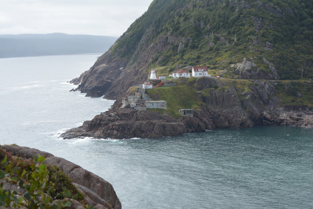 The view hiking up towards Signal Hill in St. John's, Newfoundland.